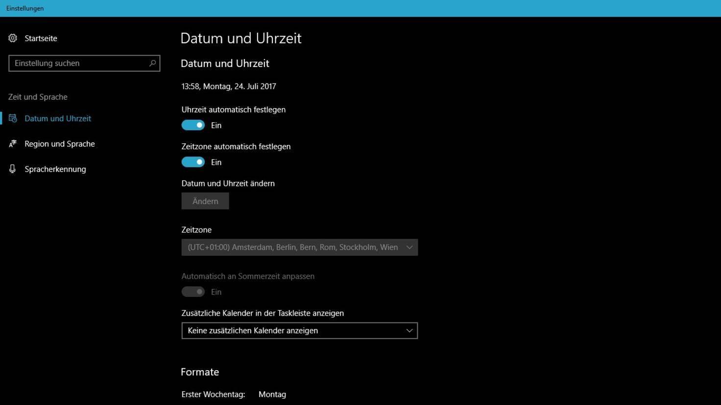 Windows-10-Datum-Uhrzeit