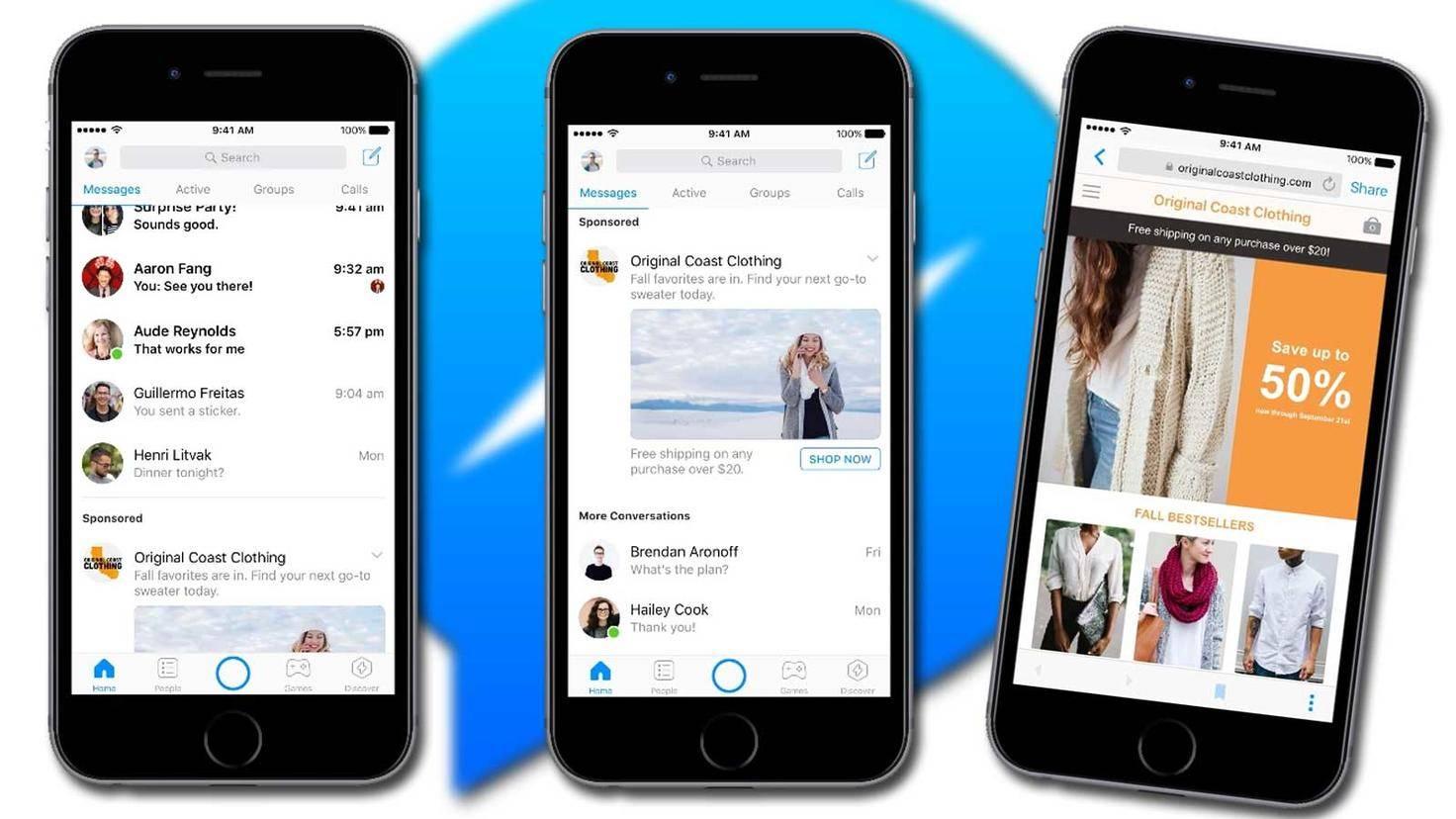 Facebook Messenger mit Werbung