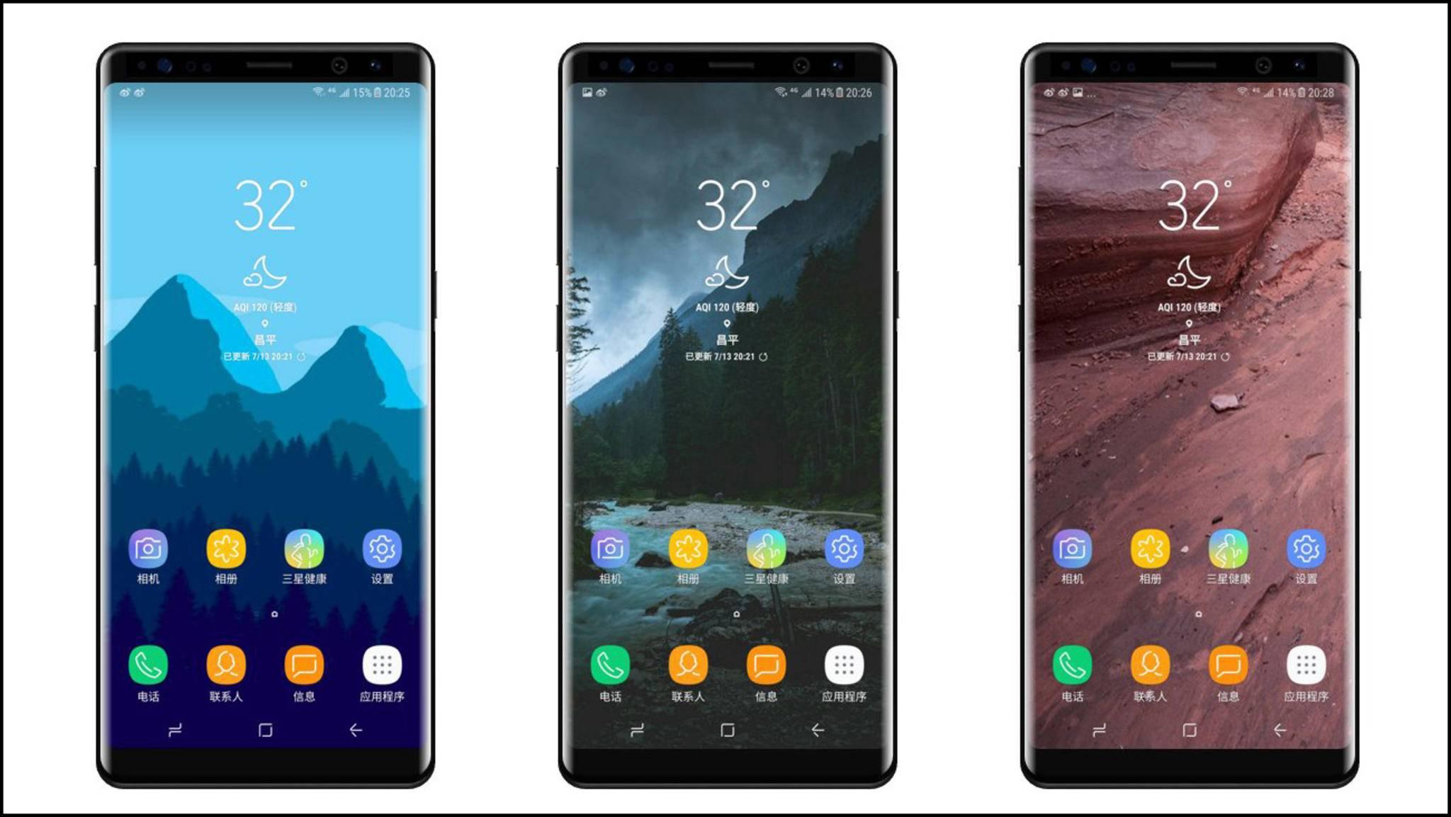 Samsung Galaxy S8 Note-Render