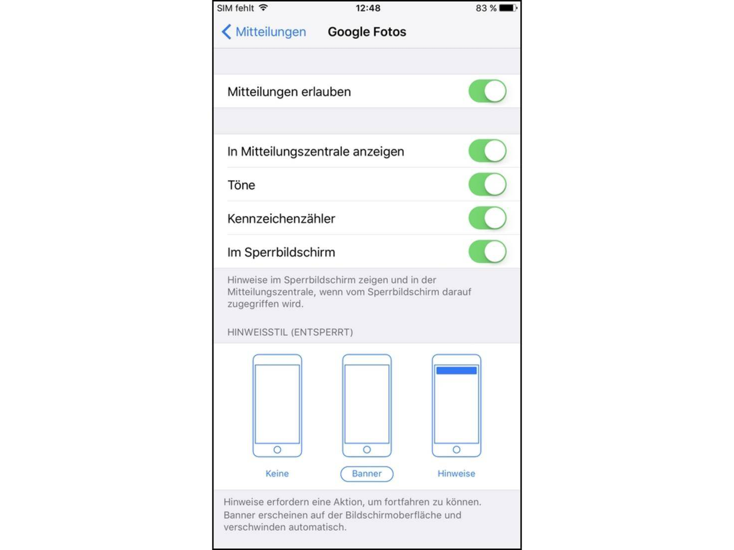 iPhone-Push-benachrichtigungen