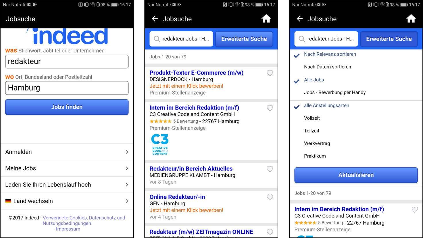 indeed Job-App