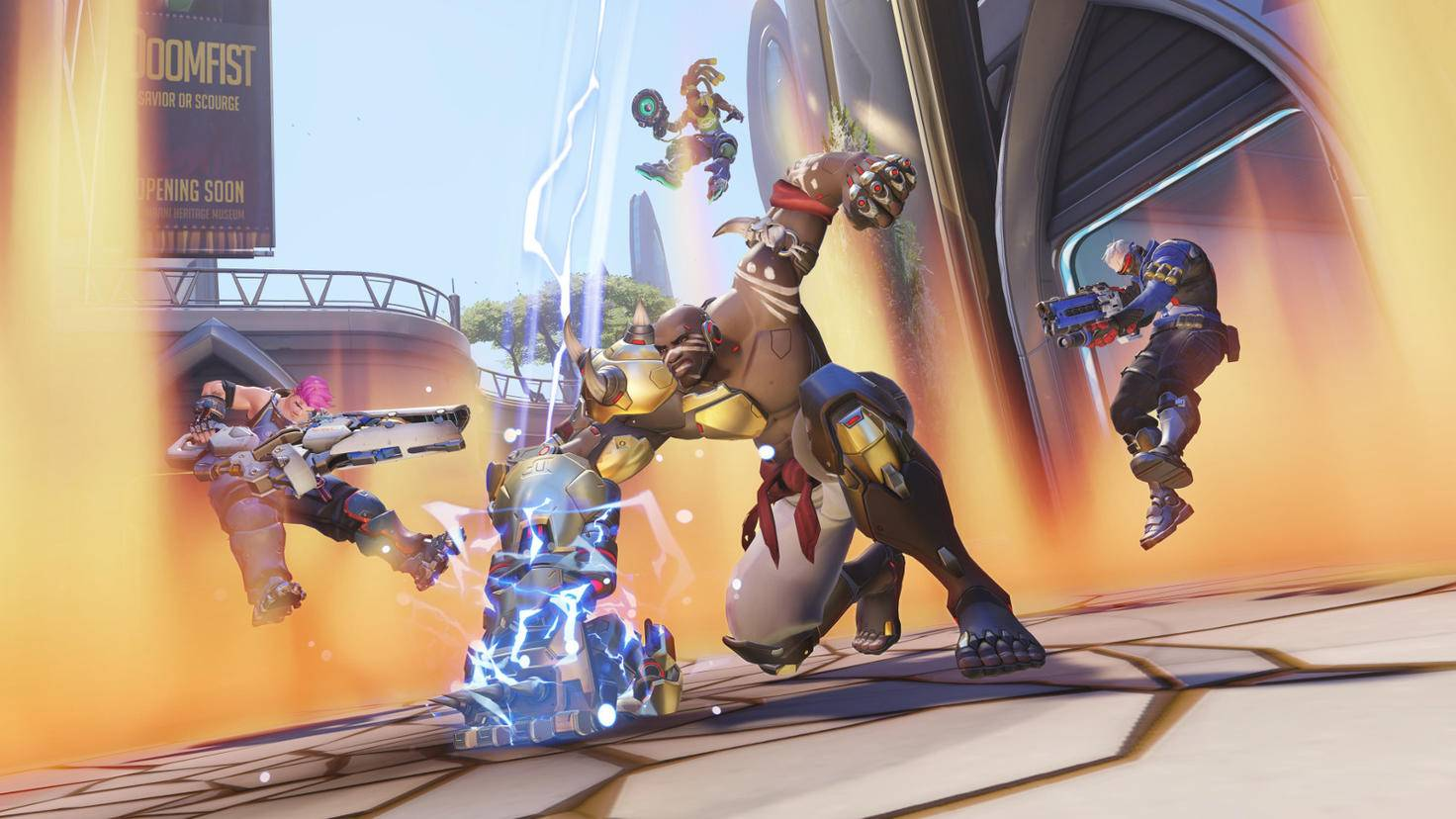 """Mit dem """"Meteorschlag"""" stiftet der neueste """"Overwatch""""-Held auf einen Schlag Verwüstung."""