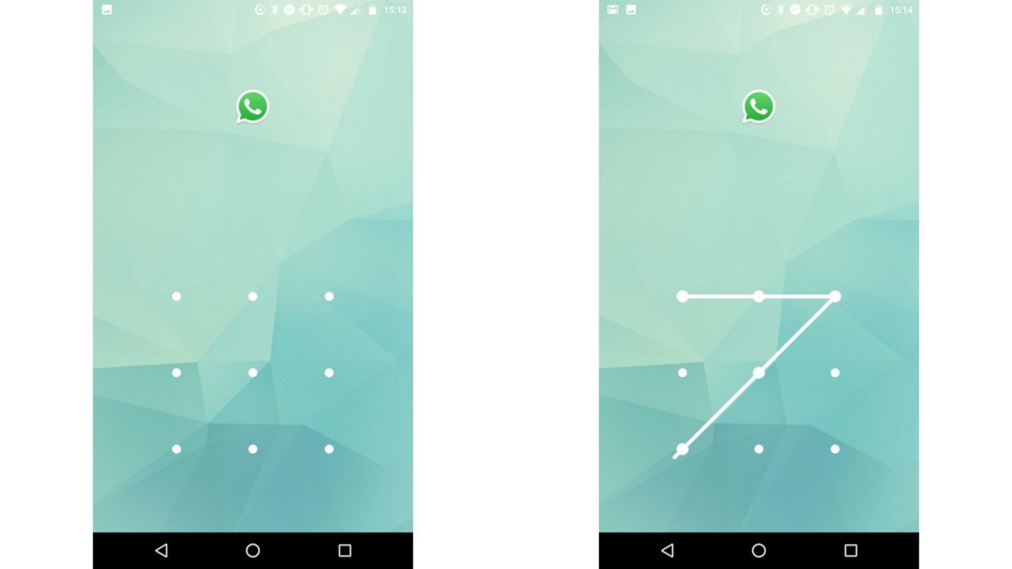 Nach dem Sperren lässt sich WhatsApp nur noch per Sperrcode öffnen.
