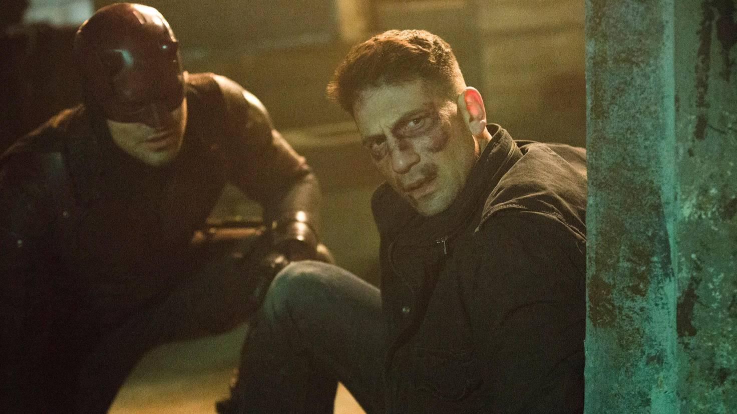 """Charlie Cox als Daredevil und Jon Bernthal als The Punisher in """"Daredevil"""""""