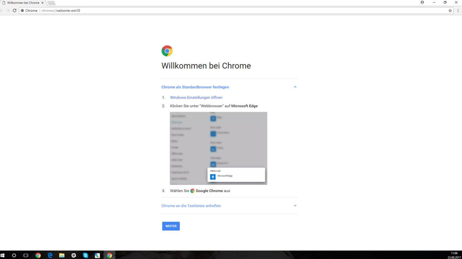 Bist Du fertig mit der Surf-Session, denke ans Beenden von Google Chrome Portable.