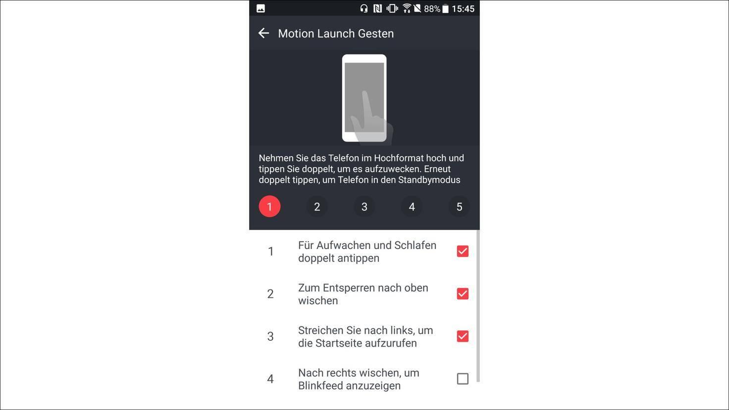 HTC-U11-Gestensteuerung