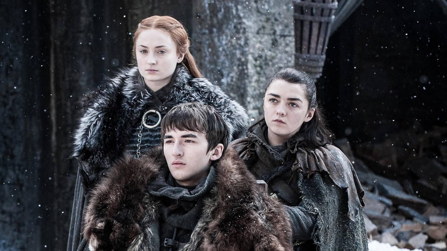 Endlich wieder vereint: Sansa, Arya und Bran Stark.