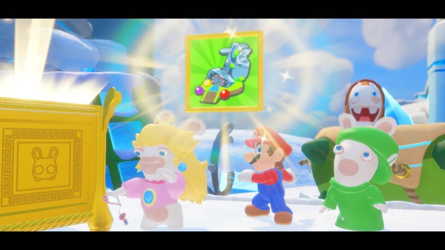 ... während die Mario-Truppe auf ihrer Reise Schätze findet und ...