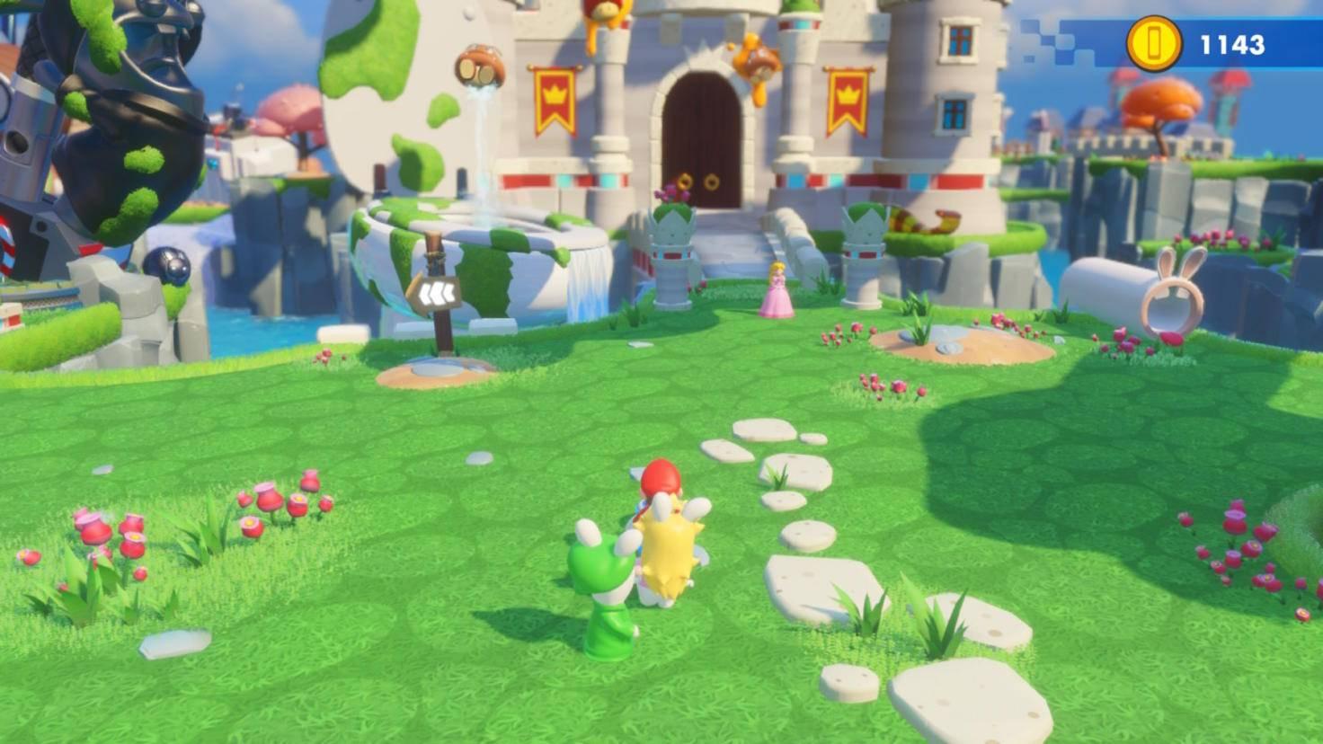 """Im Pilzkönigreich ist in """"Mario & Rabbids Kingdom Battle"""" das Chaos ausgebrochen ..."""