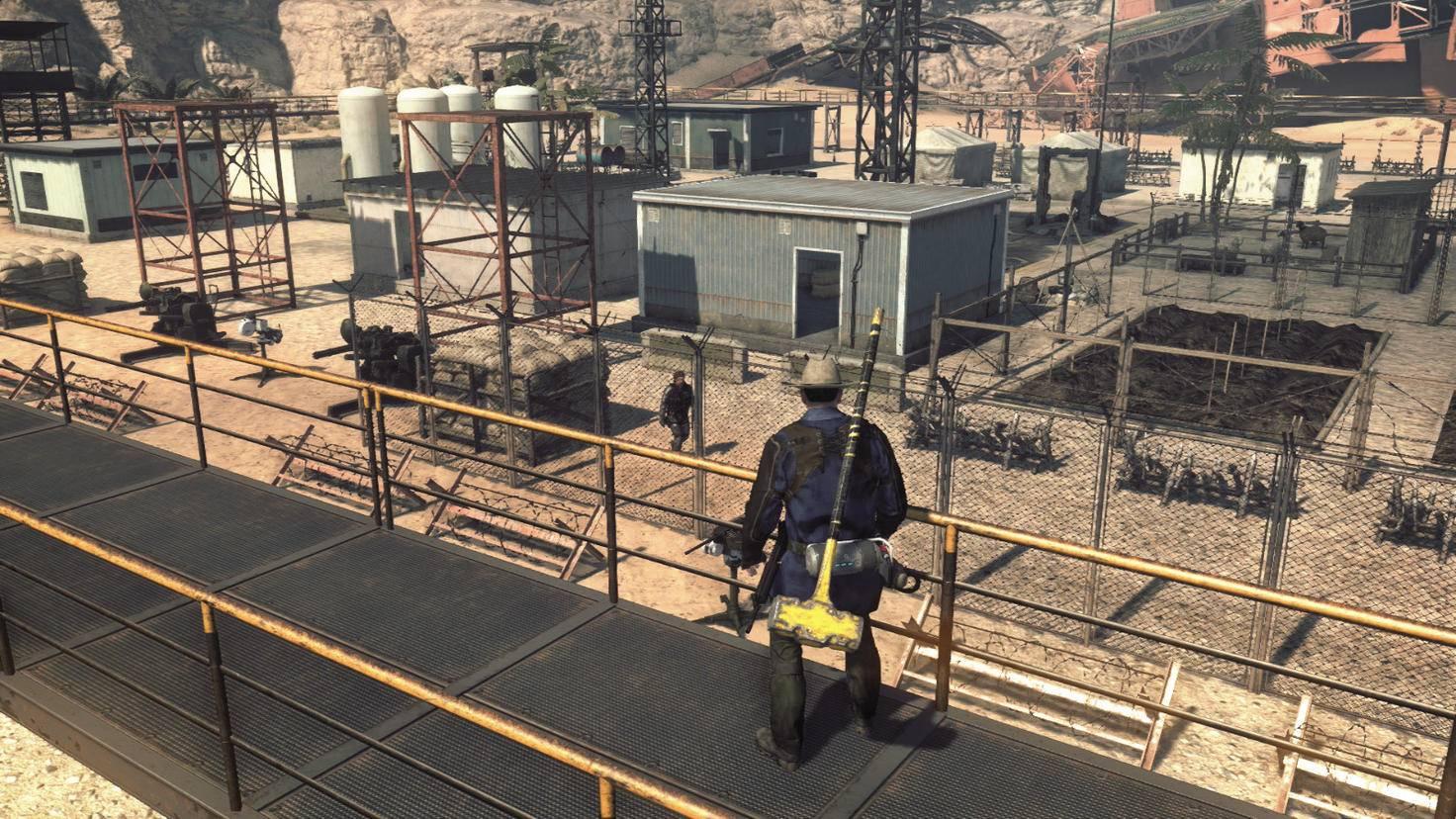 """Der Aufbau einer stabilen Verteidigungs-Basis ist ein Kernelement von """"Metal Gear Survive""""."""