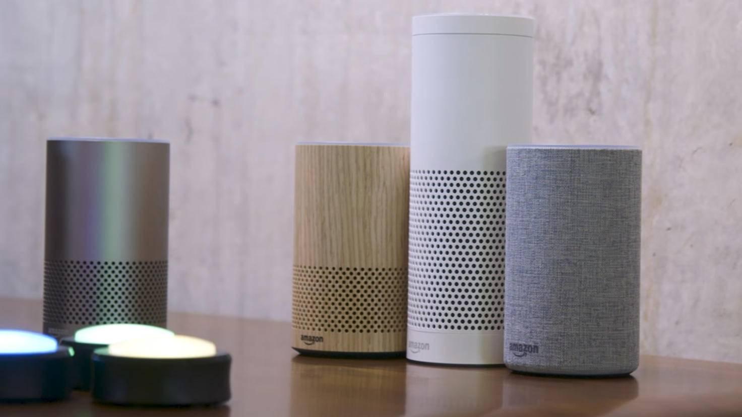 Die verschiedenen Amazon-Echo-Modelle unterscheiden sich in Preis und Größe.