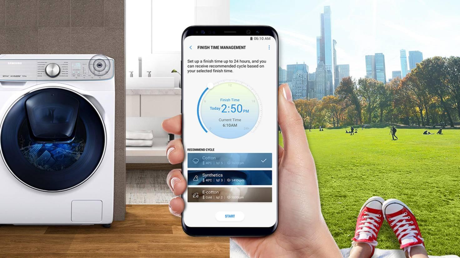 App und Samsung-Waschmaschine mit QuickDrive-Technologie IFA 2017