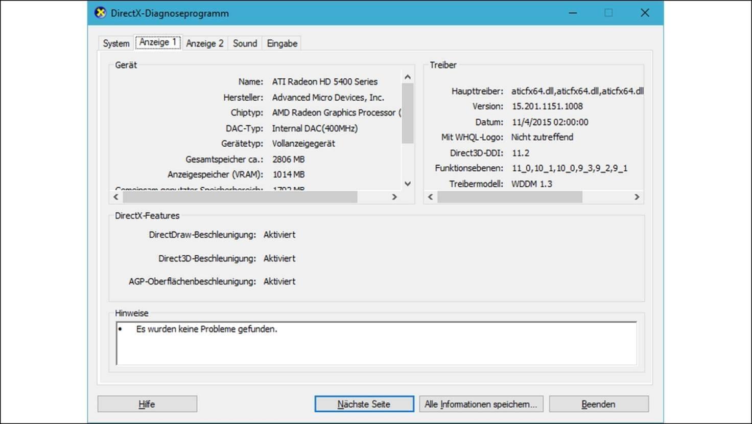 DirectX-Diagnoseprogramm-DxDiag