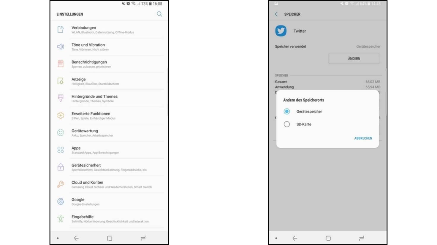 Externe Sd Karte Als Internen Speicher Nutzen.Apps Auf Sd Karte Verschieben So Geht S Auf Galaxy S8 Note 8