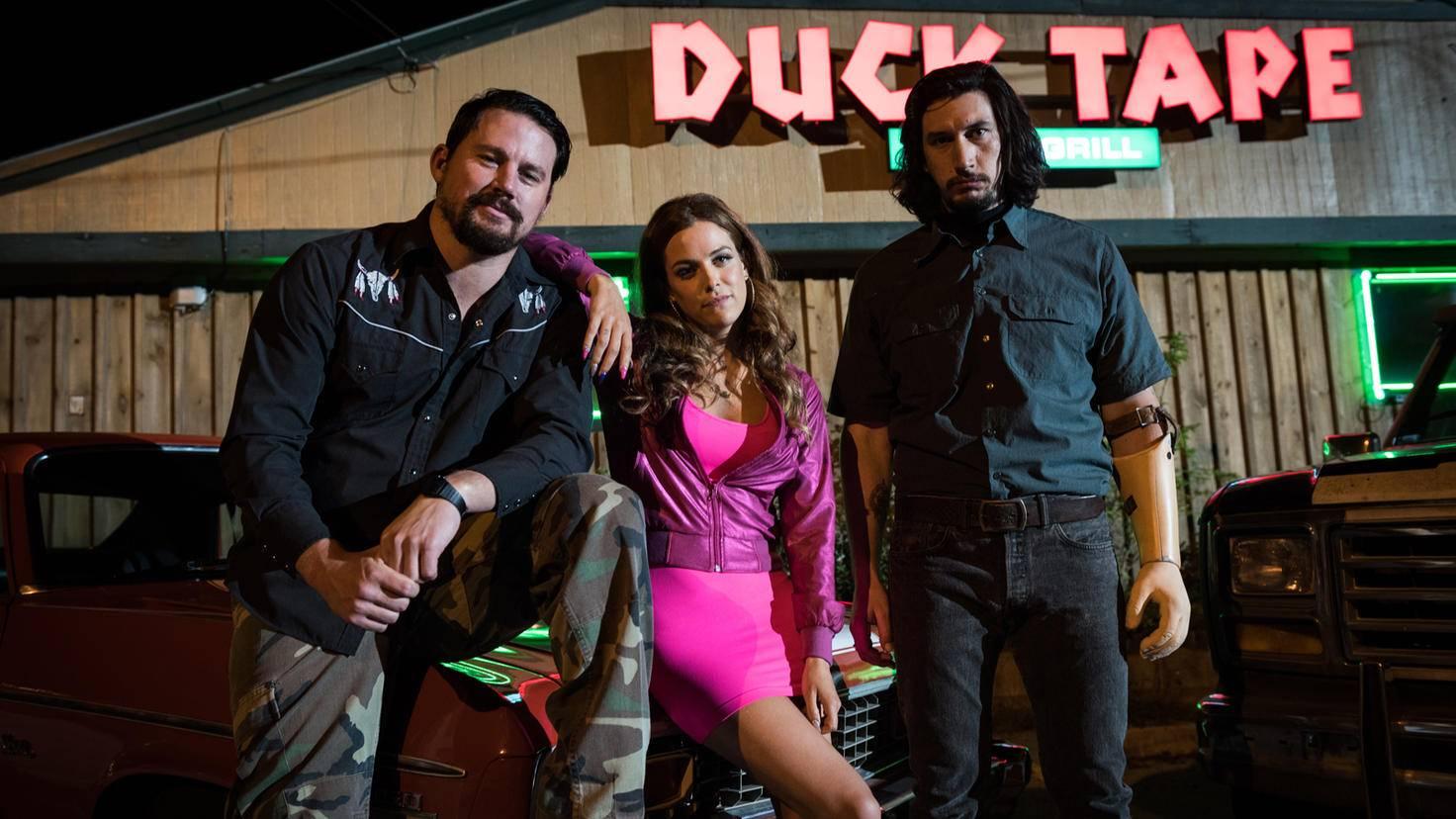 Die Logan-Geschwister: Jimmy (Channing Tatum), Mellie (Riley Keough) und Clyde (Adam Driver).