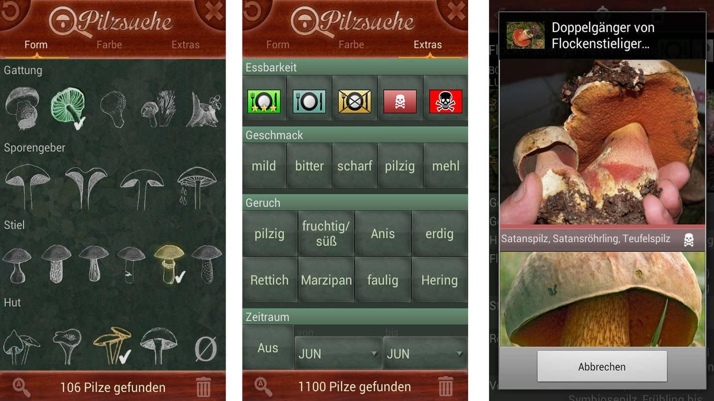 Pilzsuche Ultra-Google PlayStore-Mykomedia