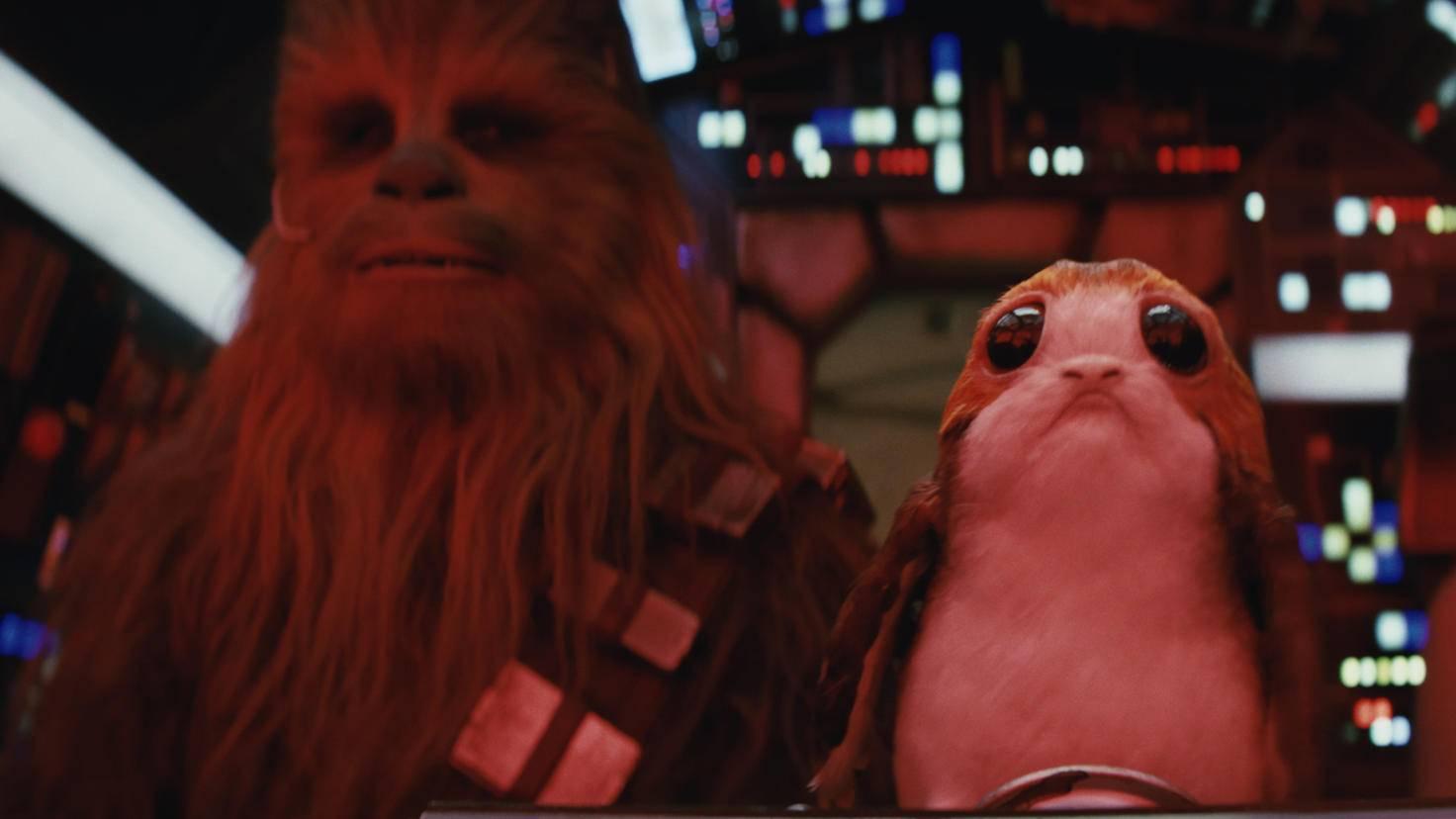 Zwischen Chewie und den Porgs scheint die Chemie zu stimmen.