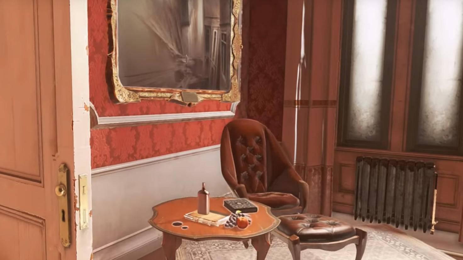 Hinter der Tür in Shan Yuns Zimmer hängt das vierte Gemälde.
