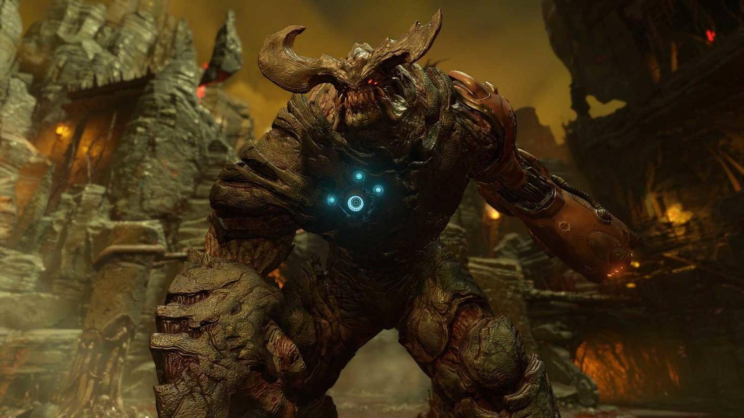 Im Spiel riesengroß,auf dem Switch-Display wenige Zentimeter klein: der Cyberdämon.