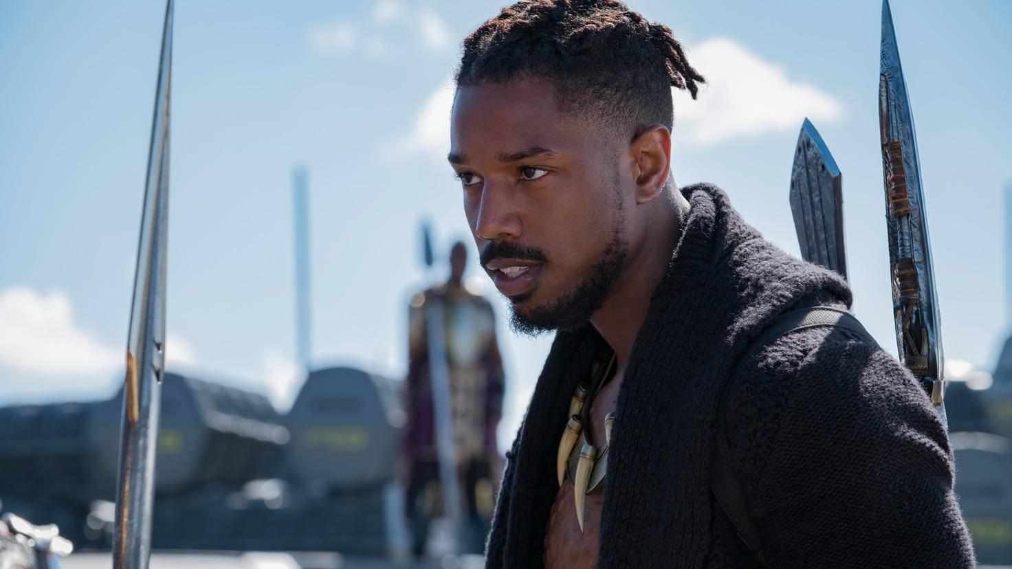 Michael B. Jordan als Erik in Black Panther