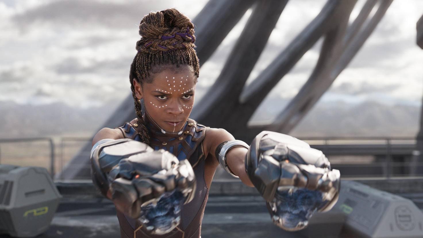 Schauspielerin Letitia Wright als Shuri in Black Panther