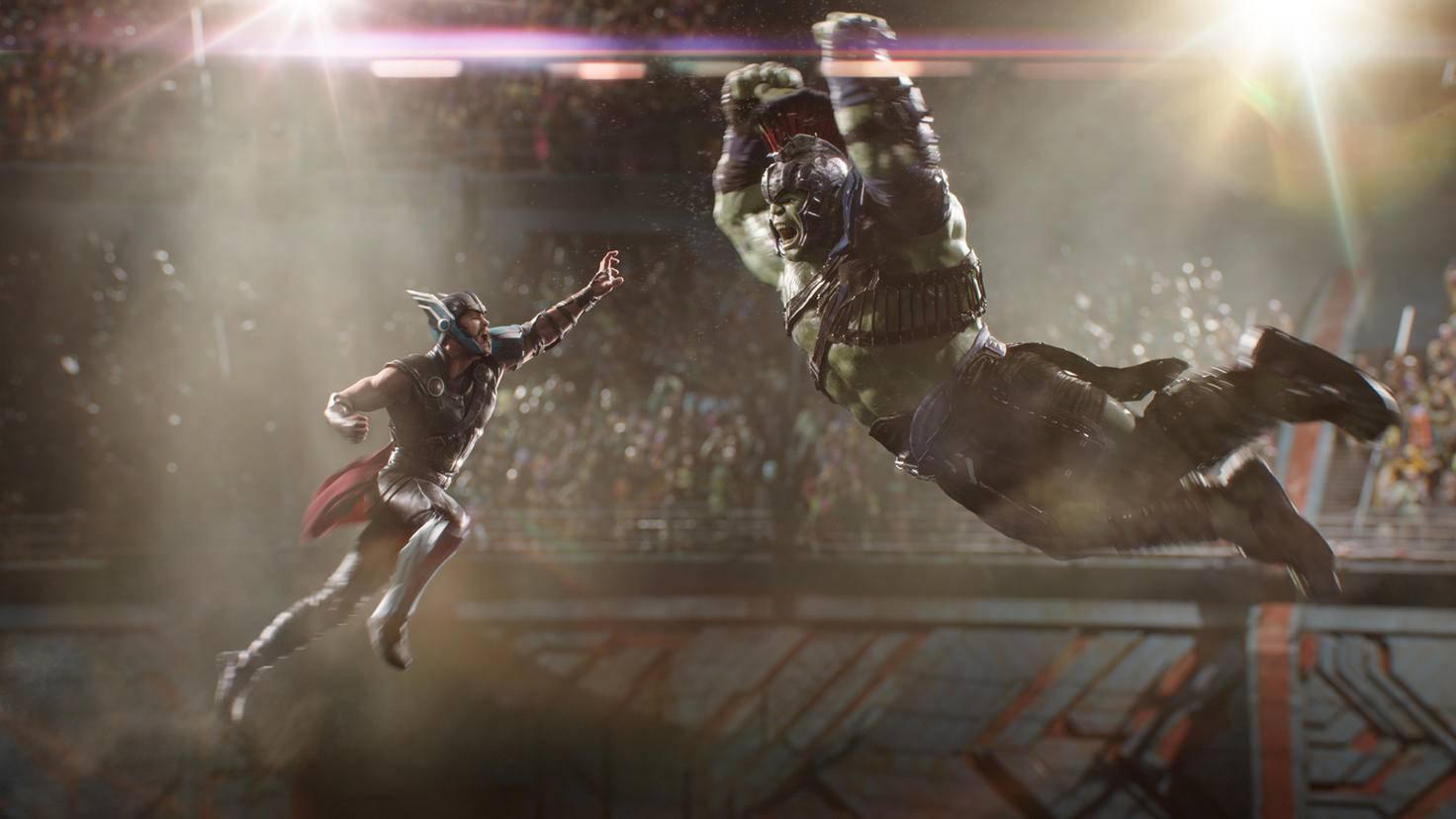 """Thor und Hulk im Kampf auf Sakaar in """"Thor 3: Tag der Entscheidung"""""""