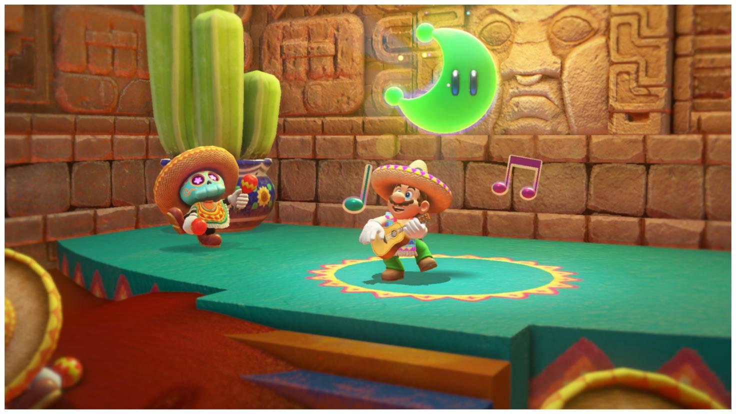 """Power-Monde findest Du überall in der Welt von """"Super Mario Odyssey"""". Amiibos können Dir dabei helfen, sie aufzuspüren."""