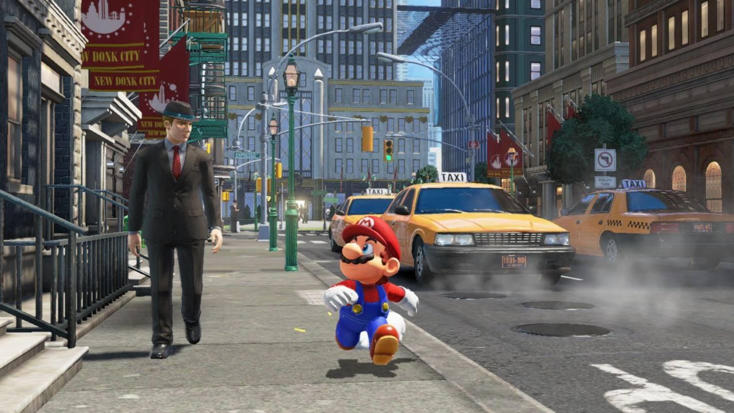 Da schaut nicht nur Mario verdutzt: An den Anblick von realistisch gezeichneten Menschen in einem Nintendo-Spiel müssen wir uns auch erst gewöhnen.
