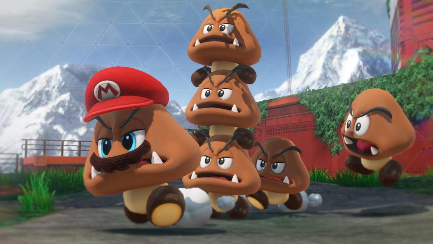 """Ganz ohne Pilze (oder pilzartige Kreaturen) kommt """"Super Mario Odyssey"""" nicht aus. Die gewohnten Fliegenpilz-Power-ups gibt's aber nicht mehr."""