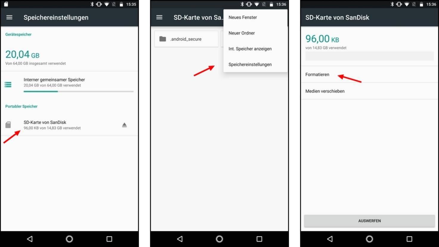 Android-Speicher-formatieren
