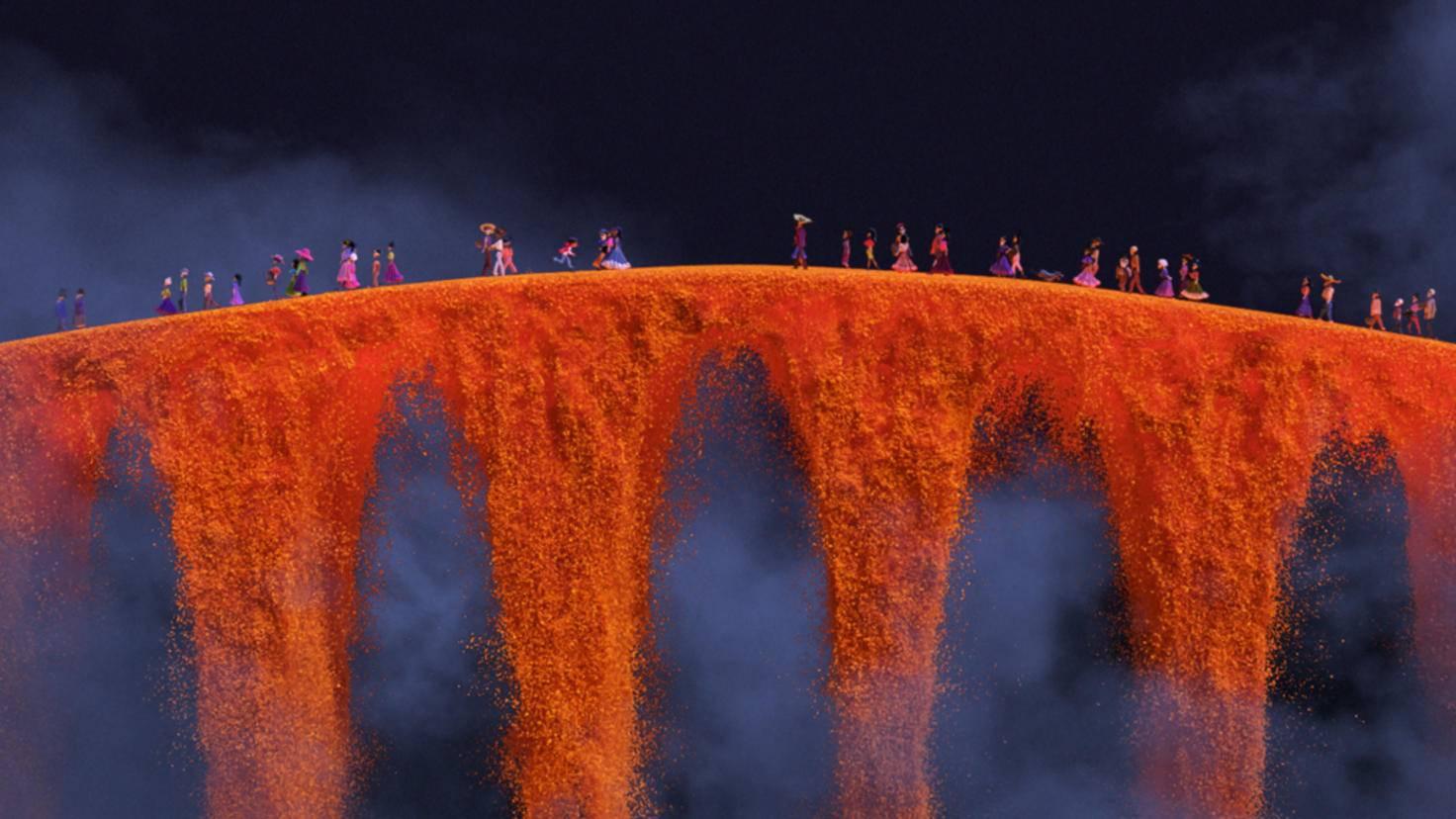 Die Blumenbrücke ist wie von Disney•Pixar gewohnt mit viel Liebe zum Detail gestaltet worden.