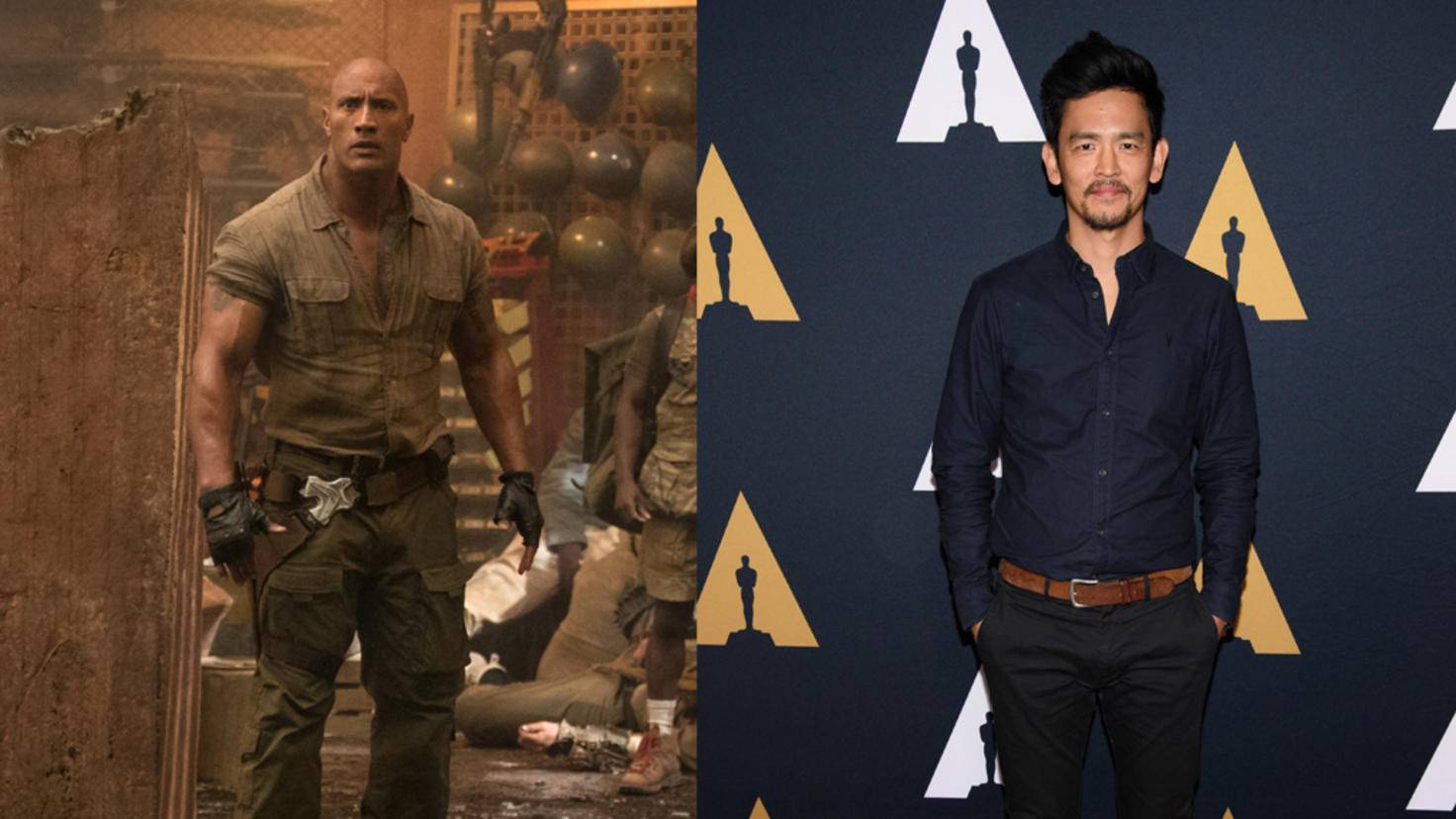 "Dwayne Johnson in ""Jumanji 2"" und ""Star Trek""-Star John Cho"