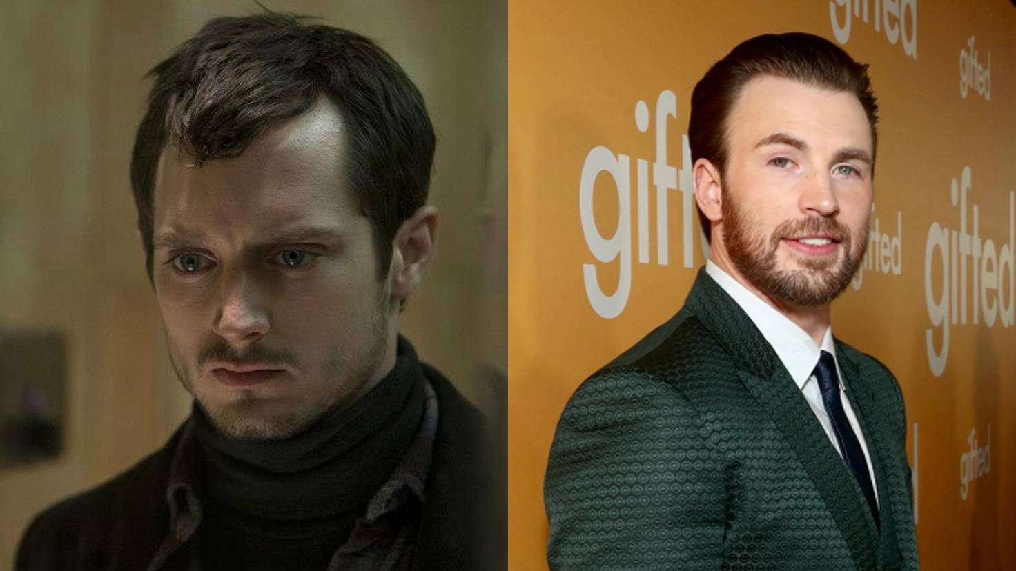 Elijah Wood und Chris Evans