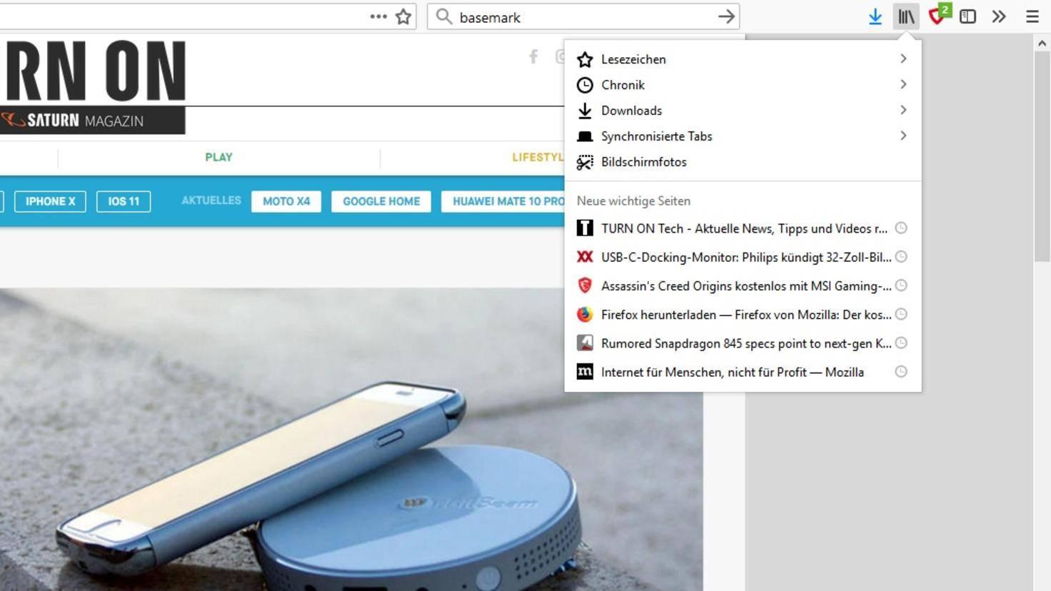 Firefox-57-Bibliothek