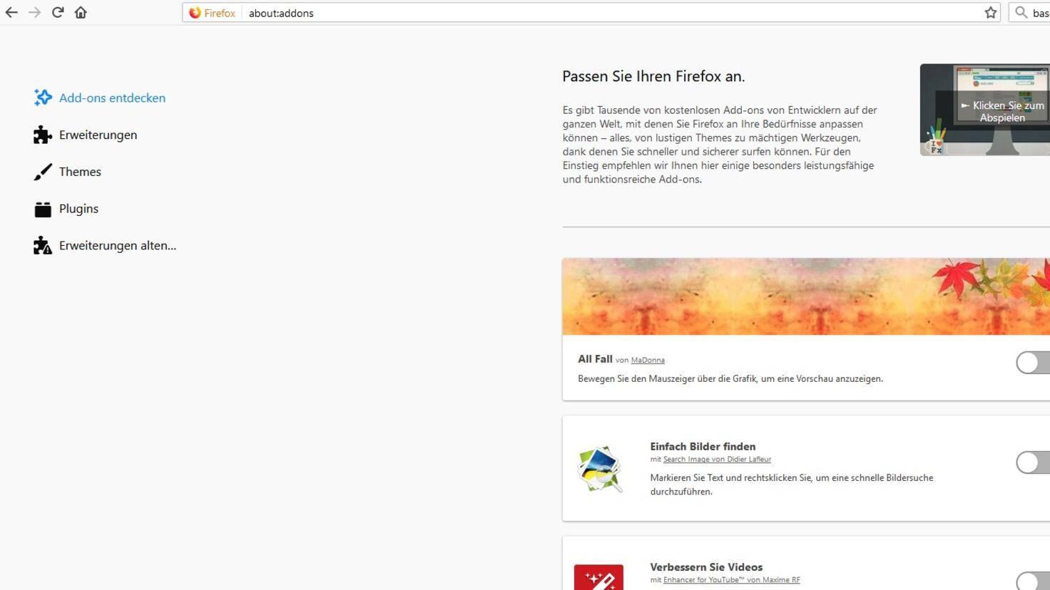 Firefox-57-Erweiterungen