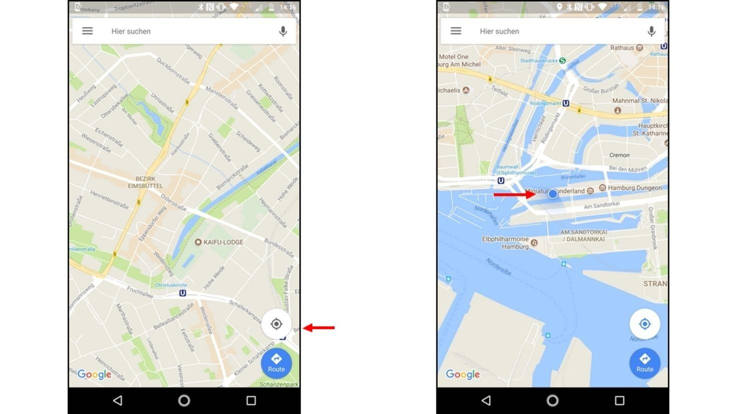 Google-Maps-Standort