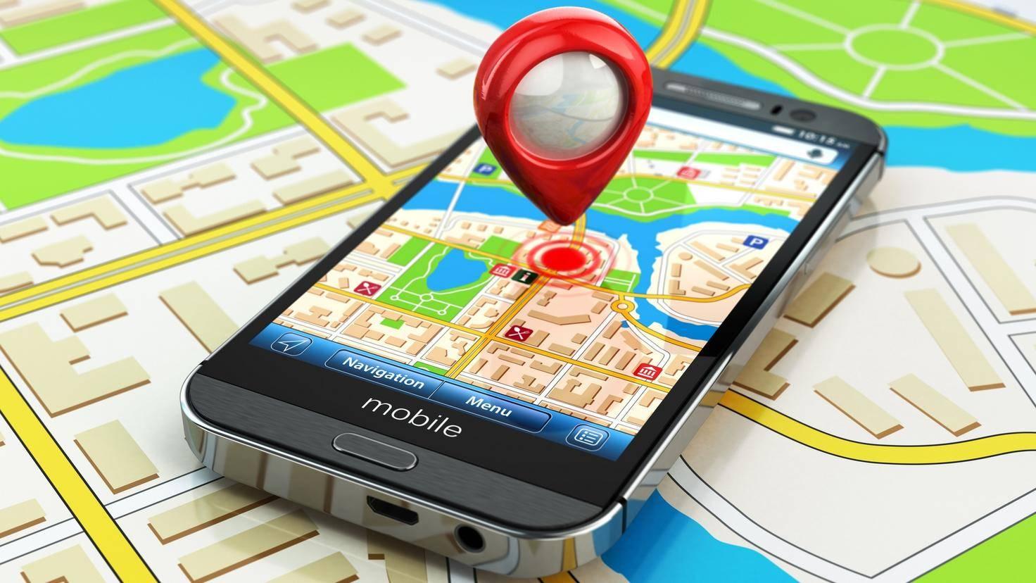 Navigations-App auf dem Smartphone