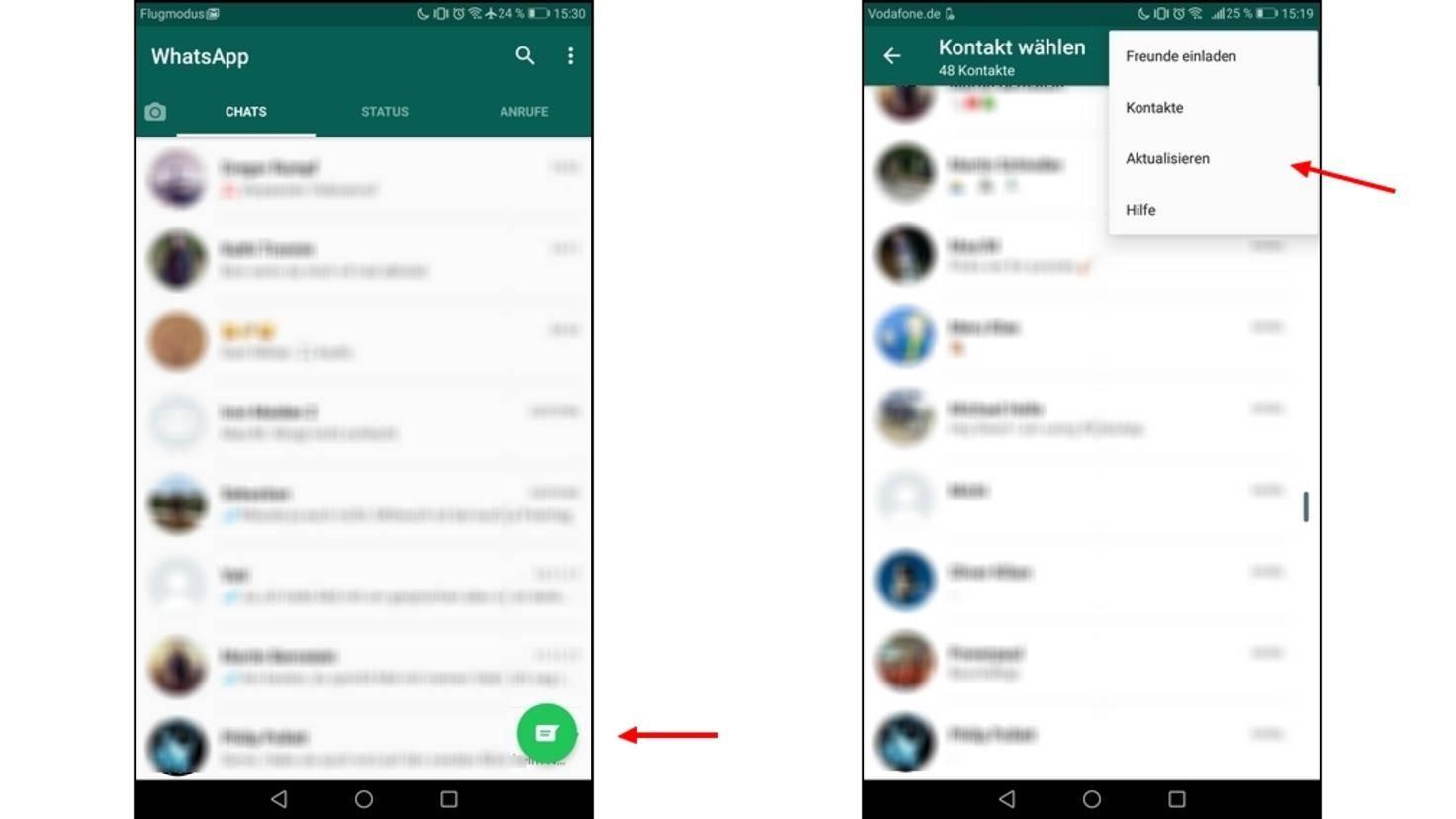 whatsapp kontakte löschen