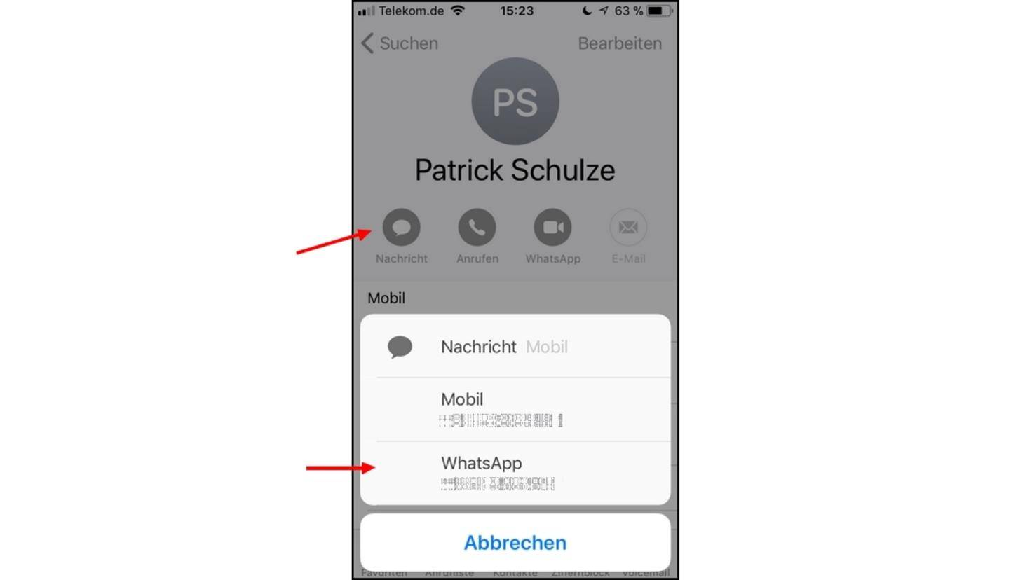WhatsApp-Kontakte-iPhone