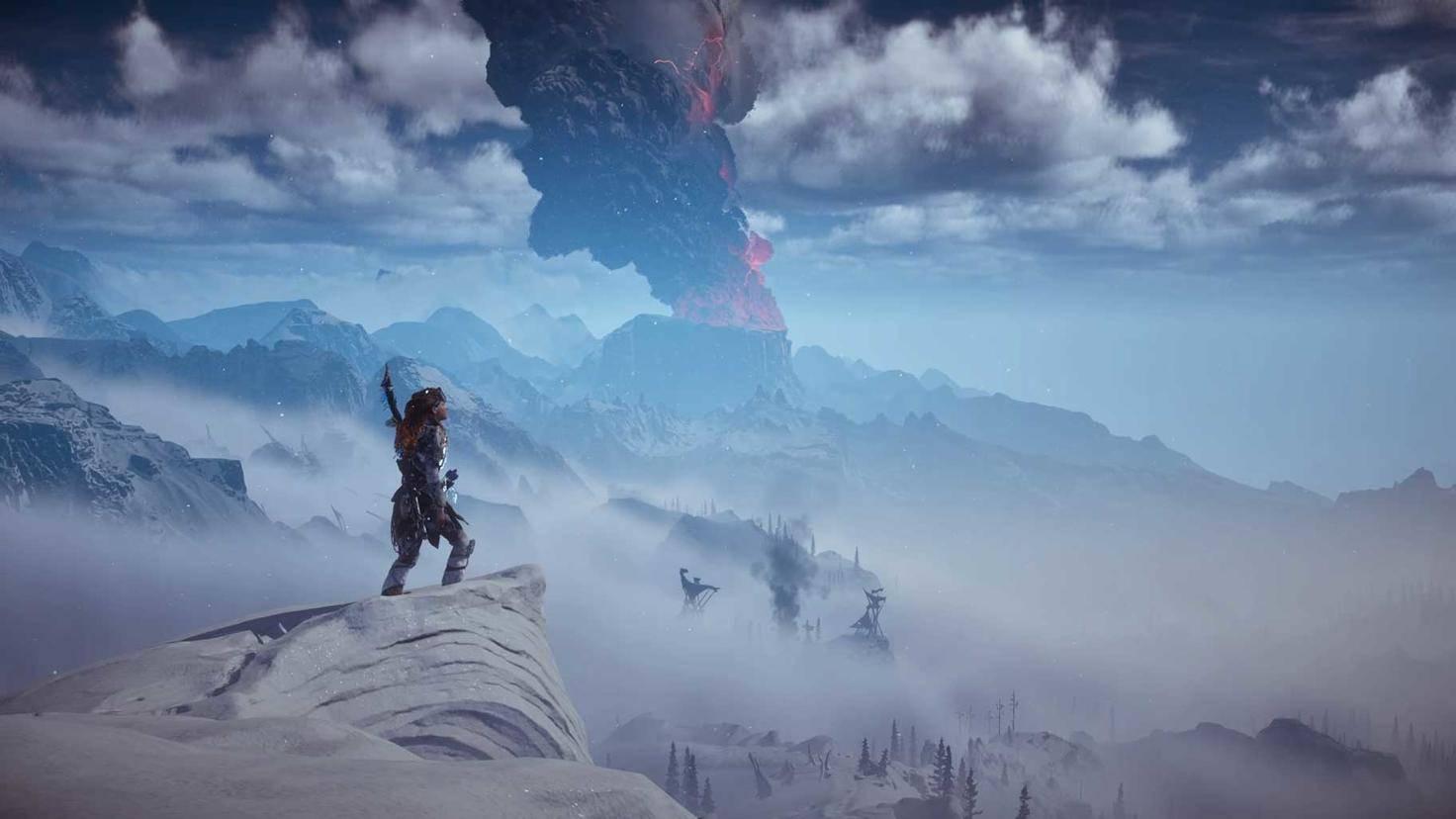 """Die Aussicht in """"Horizon Zero Dawn: The Frozen Wilds"""" ist so atemberaubend, ..."""