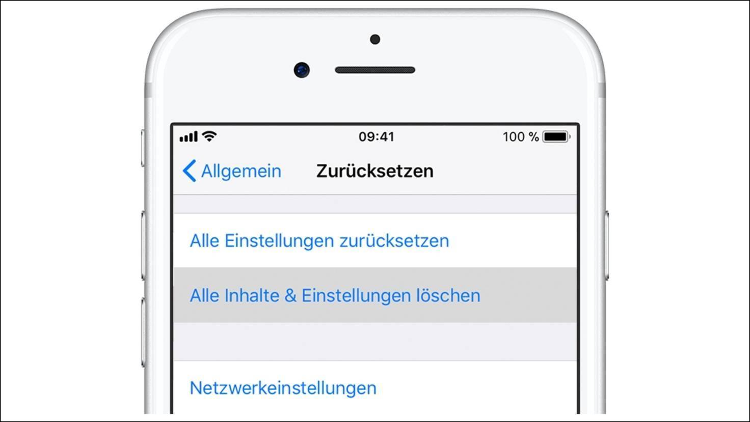 iPhone-Werkszustand