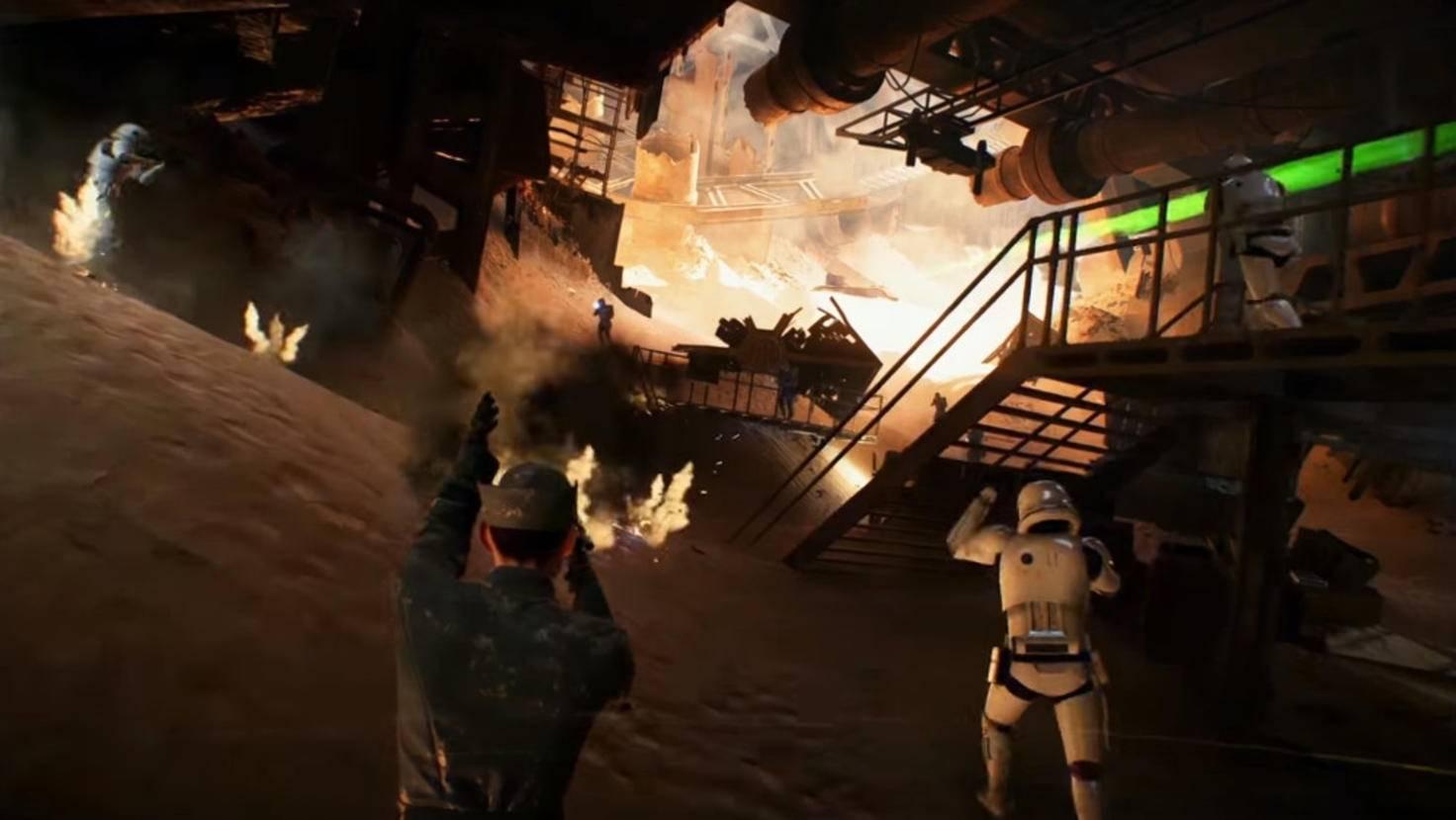 Offiziere führen ihre Truppen in die Schlacht.