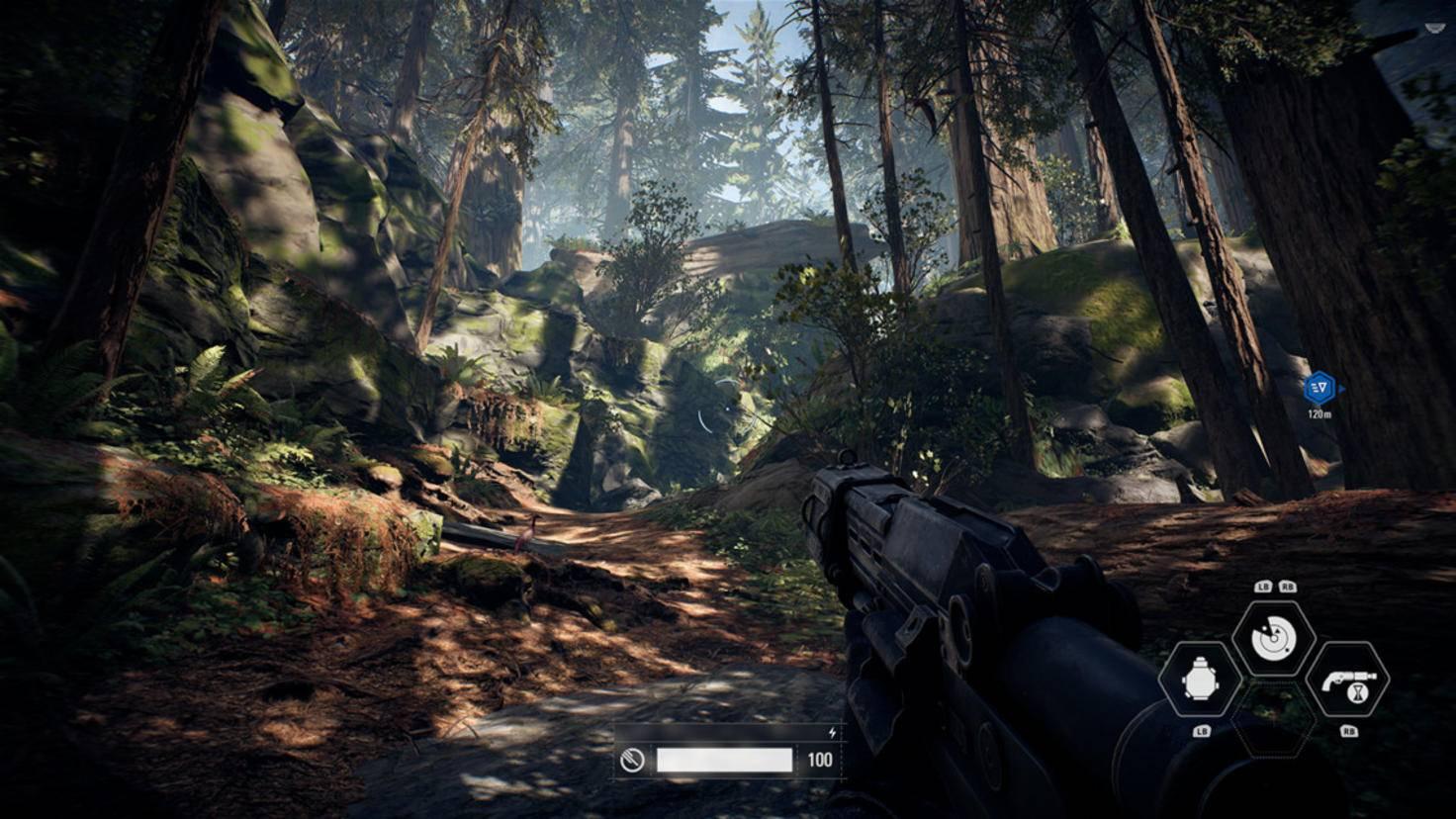 Auf dem Waldmond Endor schieße ich noch auf Rebellensoldaten. Das ändert sich später – natürlich.