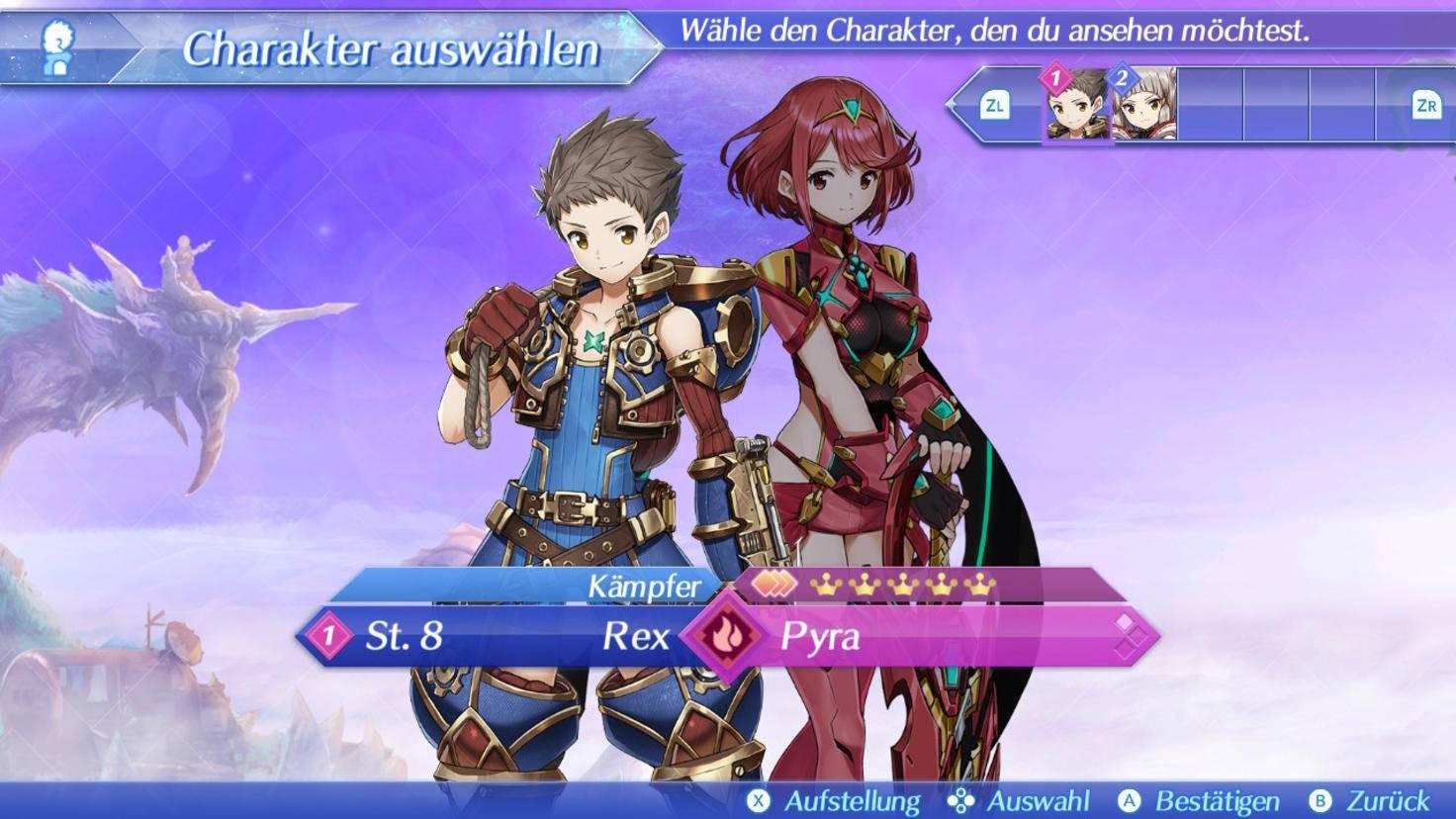 Rex und Pyra kämpfen als Meister und Klinge zusammen.