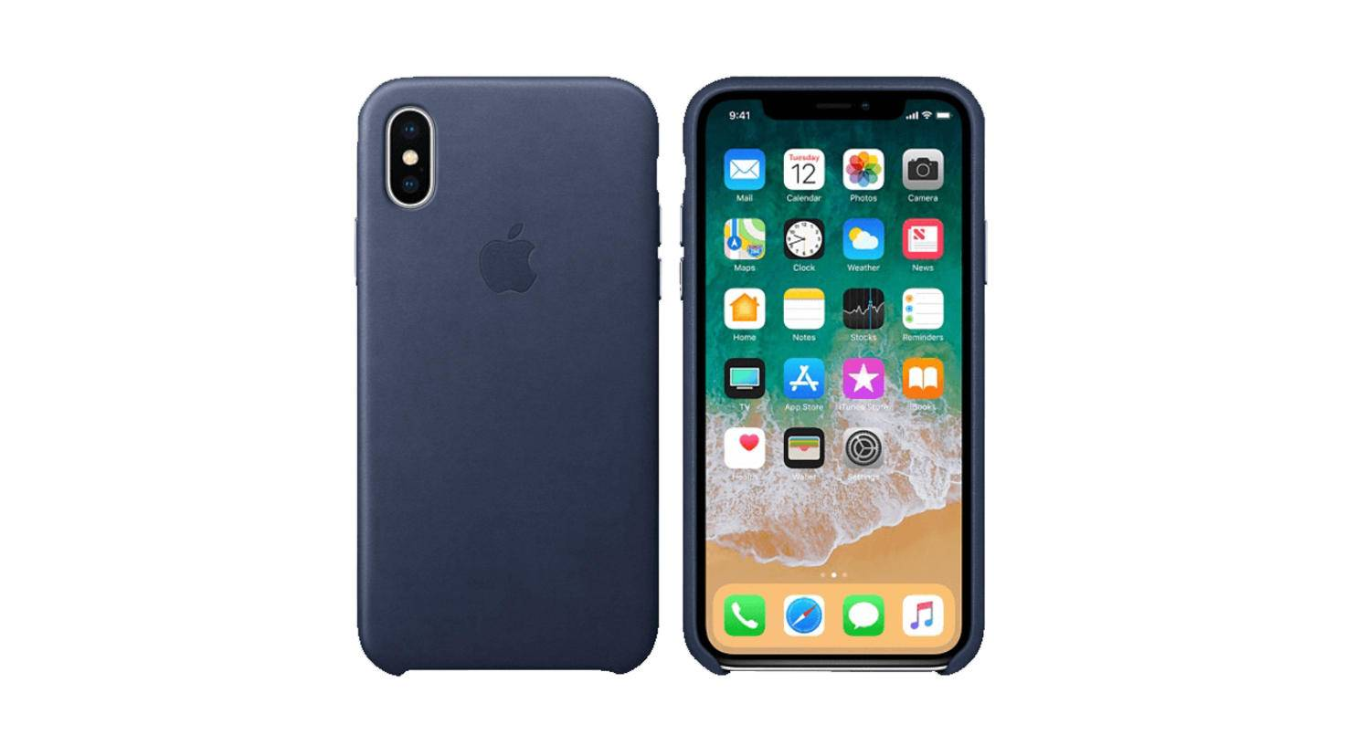 Apple Leder Case iPhone X