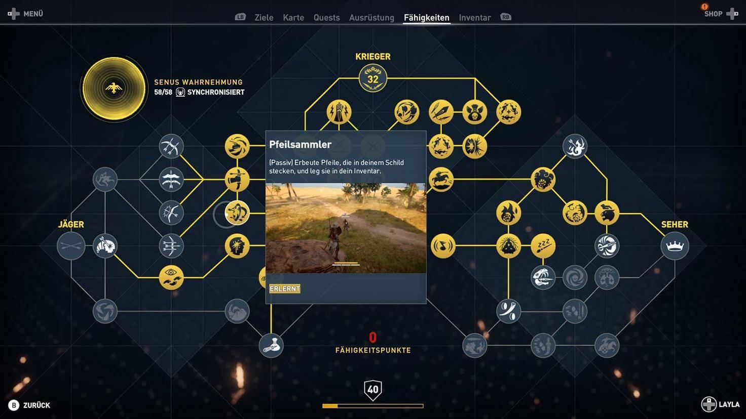 Assassins Creed Origins Skills