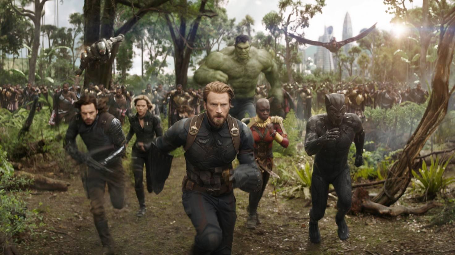 Captain America und Co. in Avengers: Infinity War