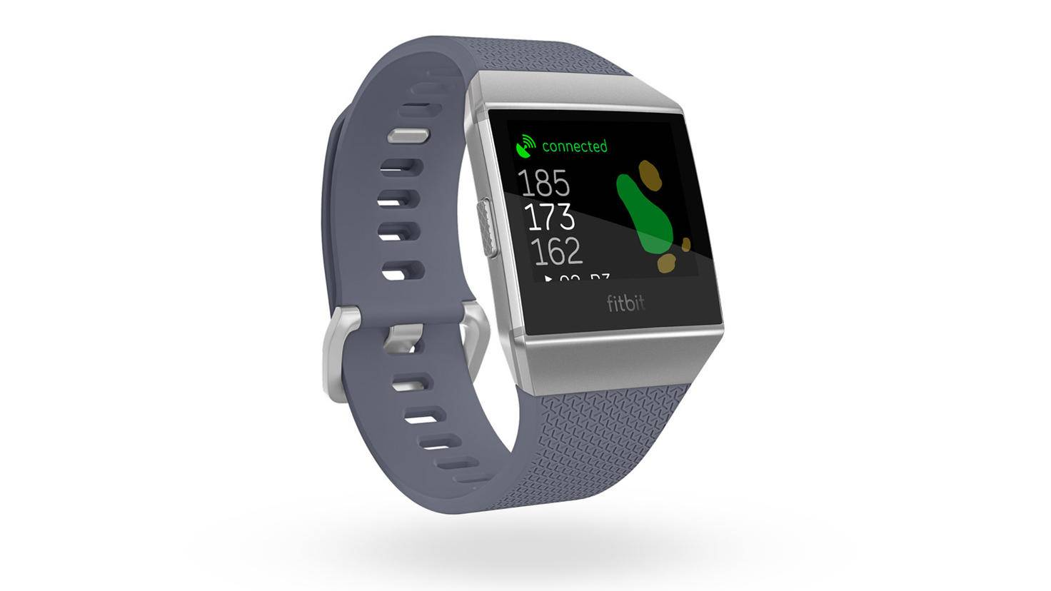 Fitbit_Ionic_3QTR_Blue_Gray_Apps_Game_Golf_Main_View