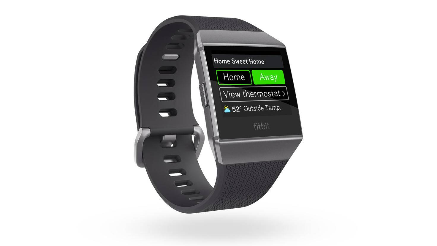 Fitbit_Ionic_3QTR_Charcoal_Apps_Nest_Hero1