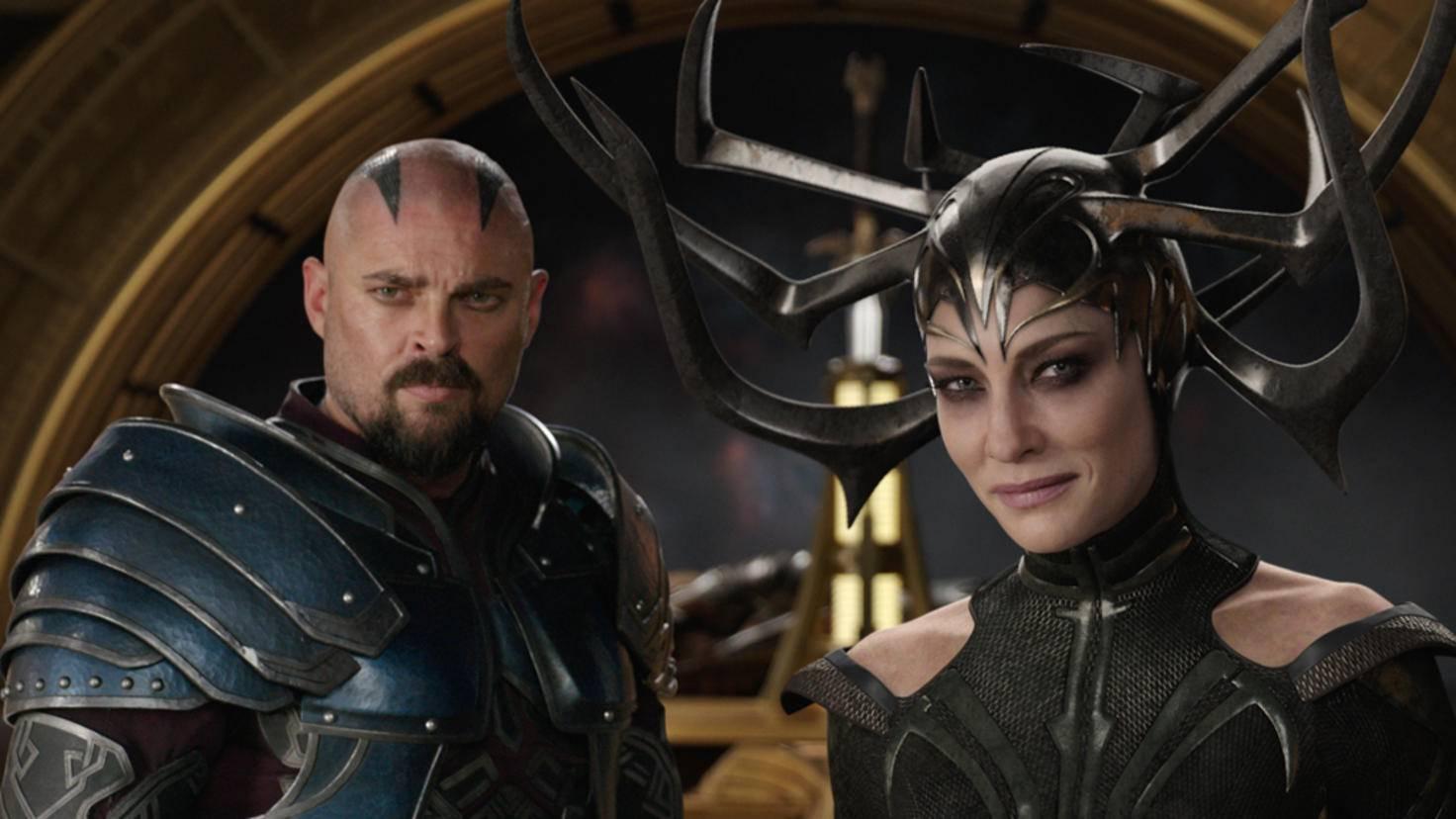 Karl Urban und Cate Blanchett in Thor 3 Tag der Entscheidung